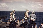 Rear-seat gunners of VB-16 on USS Lexington (CV-16) in November 1943.jpg