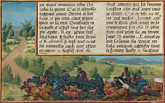 Battle of Inab - Recovery of Raymond's body after the battle