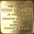 Regina Szajnthal Stolperstein.JPG