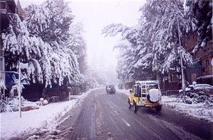 Gaza Street - Gaza Street in the snow, 2002.