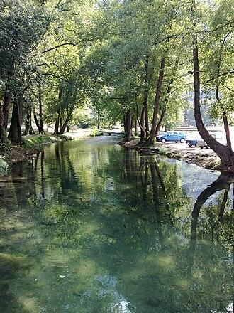Vrelo (river) - The Vrelo in Perućac