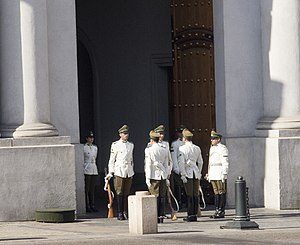 La Moneda Palace - Changing of the Guard