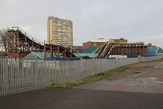 Dreamland Margate - Part of the derelict Scenic Railway in 2013