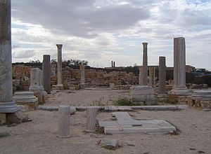 Christianity in Libya - The ruins of the Basilica of Justinian in Sabratha