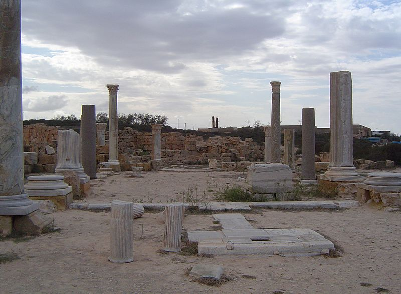 File:Remains of the Basilica of Justinian in Sabratha - Libya.JPG