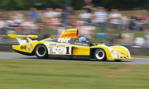 Renault Alpine A442 - The 1978 Renault Alpine A443 being demonstrated at Donington Park in 2007