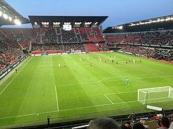 Rennes - Montpellier L1 20150815 - Scène match.JPG