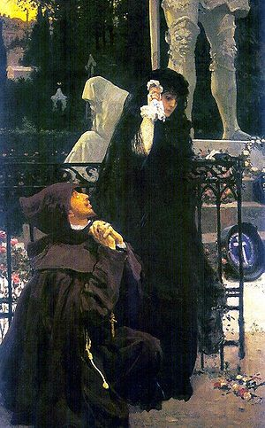 The Stone Guest (play) - The Stone Guest. Don Juan and Doña Ana. Picture by Ilya Repin.
