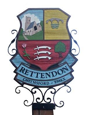 Rettendon - Image: Ret sign