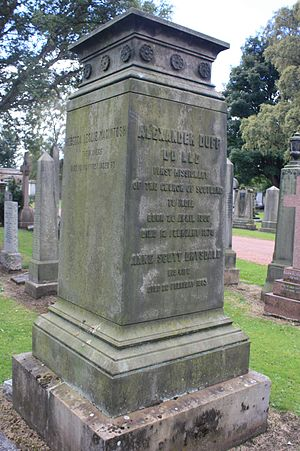 Alexander Duff (missionary) - Rev Alexander Duff's grave, Grange Cemetery