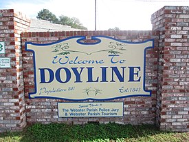 Revised, Doyline, LA welcome sign IMG 5641.JPG