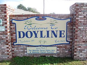 Doyline, Louisiana - Image: Revised, Doyline, LA welcome sign IMG 5641