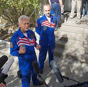 Owen K. Garriott - Owen with Richard, prior to his son's spaceflight