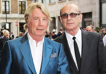 Parfitt and Francis Rossi in 2013, at the premiere of Bula Quo! Rick Parfitt and Francis Rossi, Bula Quo, London, 2013 (crop).jpg