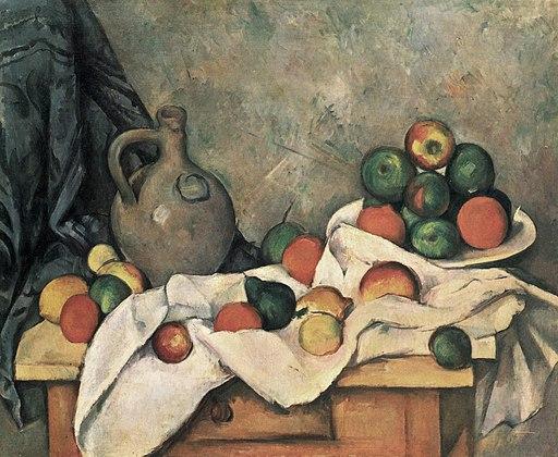 Rideau, Cruchon et Compotier, par Paul Cézanne, Yorck Project