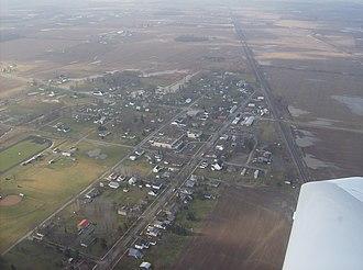 Ridgeway, Ohio - Ridgeway from the air