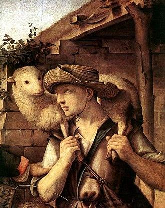 Ridolfo Ghirlandaio - Image: Ridolfo del Ghirlandaio Adoration of the Shepherds (detail) WGA08920