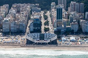 Copacabana Stadium - Copacabana Stadium in May 2016, while under construction