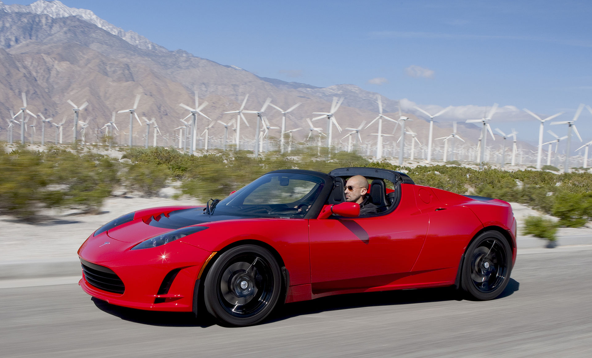Tesla Roadster all electric vehicle picture