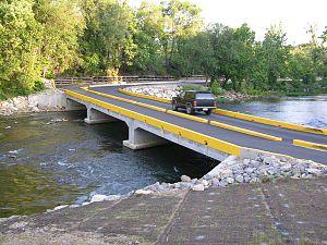 Low-water crossing - Roanoke River low water crossing