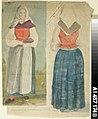 Robert Wilhelm Ekman - Kansallispukuinen seisova nainen edestä ja takaa - A I 457-174 b - Finnish National Gallery.jpg