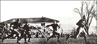 Knute Rockne - Rockne scoring against Army, 1913.