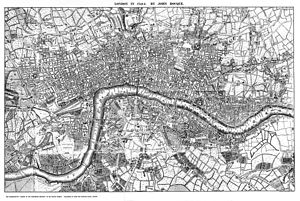 John Rocque - A twentieth-century reproduction of part of Rocque's Map of London, 1741-5
