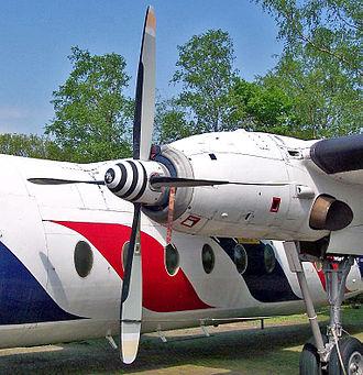 Rolls-Royce Dart - A Rolls-Royce Dart mounted on a Fokker F27 Friendship.