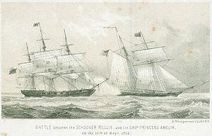 USS Troup (1812) - Image: Rossie vs Princess Amelia