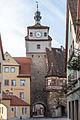 Rothenburg ob der Tauber, Stadtbefestigung, Weißer Turm, Feldseite-20160108-002.jpg
