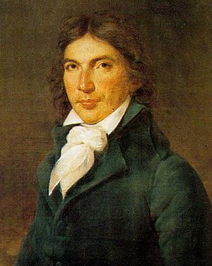 Camille Desmoulins, who devised the first French cockade Rouillard - Camille Desmoulins.jpg
