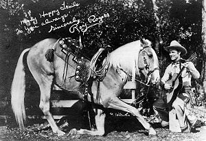 Trigger (horse) - Publicity photo of Roy Rogers and Trigger