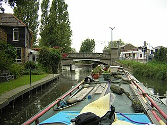 Stort Navigation - The navigation approaching Roydon