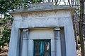 Rudd-Wood-Hittell mausoleum - front detail - Lake View Cemetery - 2015-04-04 (22606224880).jpg