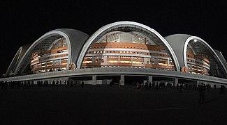 Rungrado 1st of May Stadium at night.jpg