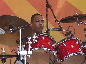 Russell Batiste Jr. - Russell Batiste Jr. playing at the New Orleans Jazz & Heritage Festival, 2008