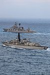 Russian cruiser Marshal Ustinov and HMS St Albans MOD 45165062.jpg