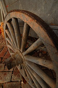A wagon wheel
