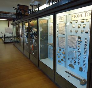 Geology Hall - An exhibit featuring of Native American stone tools