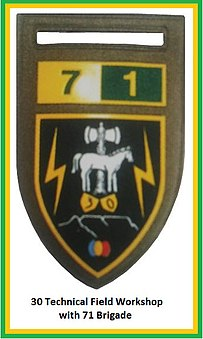 SADF 7 Division 30 Technical Field Workshop Flash