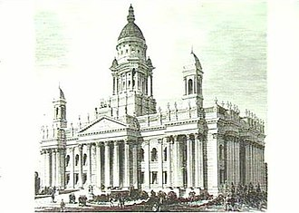 Parliament House, Adelaide - Painting of the original Parliament House design. The towers and domes were not included in the final design.