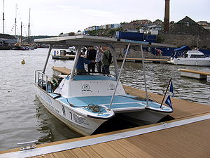 SB Collinda, the first solar powered boat to c...