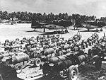 SBD-5 Dauntless bombers of VMSB-231 on Majuro in March 1944.jpg