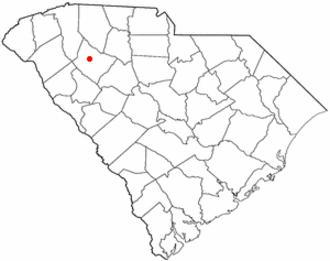 Laurens, South Carolina - Image: SC Map doton Laurens