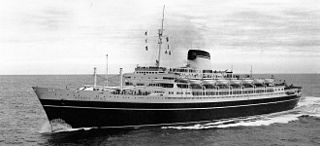 SS <i>Andrea Doria</i> ocean liner sunk after a collision off Massachusetts