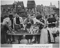 Saarbruecken, France. Market day in Saarbruecken, the Saar's capital. The Saar is the most densly populated area in... - NARA - 541687.tif
