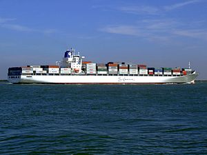 Safmarine Nomazwe p13 approaching Port of Rotterdam, Holland 19-Apr-2007.jpg