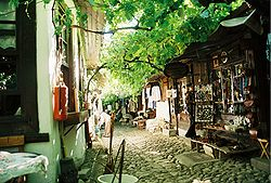A street in historical Shoe-makers market of Safranbolu