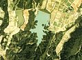 Sakuragaike water reservoir in Nanto city Aerial photograph.1977.jpg