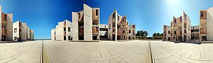 English: 360 degree panorama in the courtyard ...